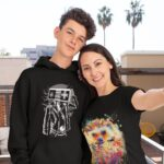 selfie-mockup-featuring-a-mom-and-her-son-wearing-a-hoodie-and-a-t-shirt-31444